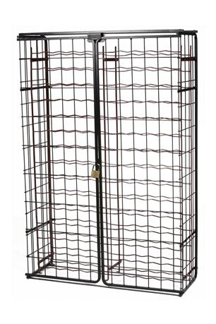 abschlie barer schrank f r weinregal 150 flaschen tom press. Black Bedroom Furniture Sets. Home Design Ideas