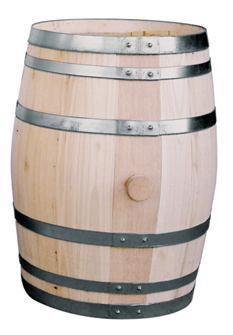 Fass aus Kastanienholz, 28 Liter