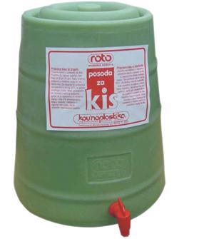 Essigbehälter aus Kunststoff, 25 Liter