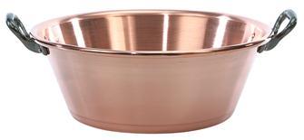 Kupferschüssel für Marmelade 12 Liter
