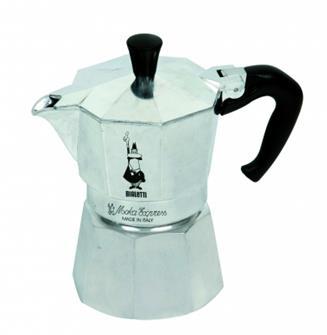 Italienische Kaffeemaschine aus Aluminium für 18 Tassen
