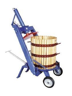 Handhydraulische Obstpresse mit schwenkbarem Druckwerk, 327 Liter
