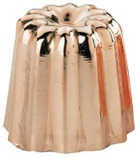 Gewellte Backform für Canelés aus verzinntem Kupfer, großes Modell