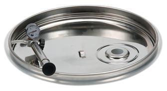 Schwimmdeckel mit pneumatischem Dichtring für Behälter aus Edelstahl, 100 Liter