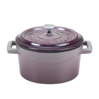 Gusseiserner Mini-Schmortopf 10cm, auberginefarben