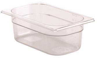 Gastrobehälter BPA-frei, GN1/4, Höhe 10cm, aus Copolyester