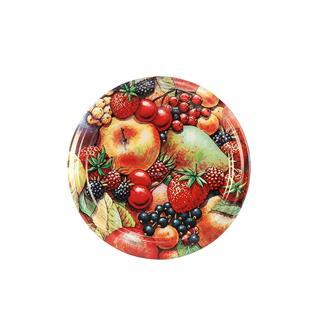 Twist-off-Deckel, Fruchtdekor matt, 63 mm, 10 Stück