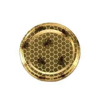 63-mm-Twist-off-Deckel für Honigglas, Biene, 10 Stück