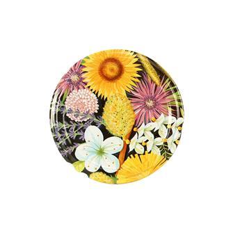 63-mm-Twist-off-Deckel für Honigglas, Blumen, 10 Stück