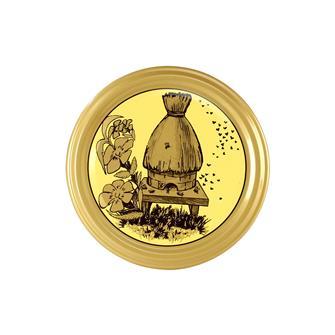 82-mm-Twist-off-Deckel, Honig, Stroh-Bienenkorb, 10 Stück