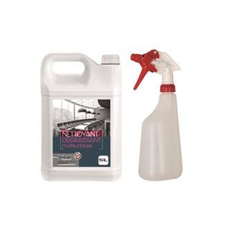 Set Reinigungsmittel und Fleckenentferner 5 L mit Sprühflasche 600 ml