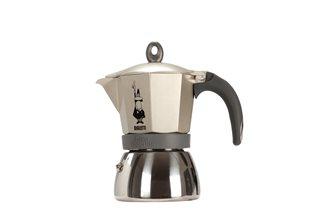 Italienischer Espressokocher Induktion 6 Tassen Gold