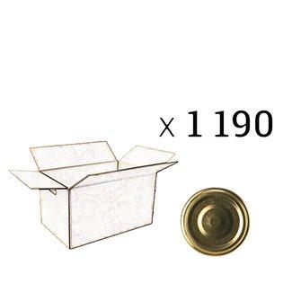 Twist-Off-Deckel 70 mm Durchmesser, Packung mit 1 190 Stück