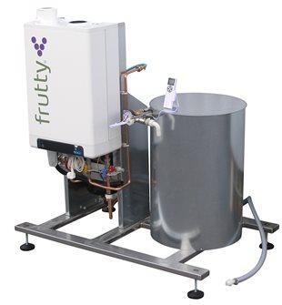 Pasteurisierer für Säfte, gasbetrieben, 250 l / Stunde