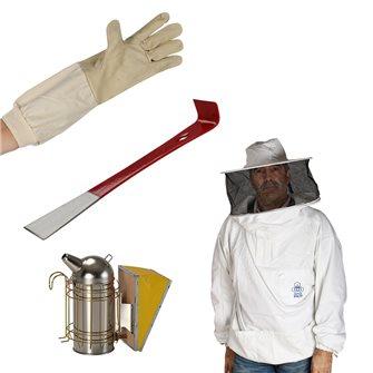 Kit équipement de l´apiculteur vareuse enfumoir lève cadre