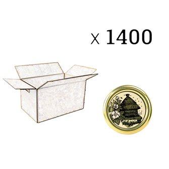 Twist-Off-Deckel, Motiv Bienenstock, 63 mm Durchm. zu 1400 Stück