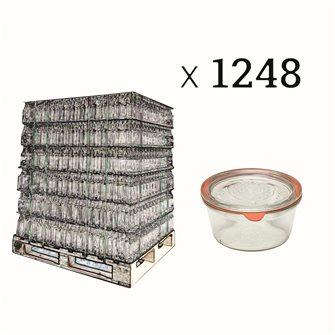 Verrines Weck 290 ml diamètre 100 par palette de 1248