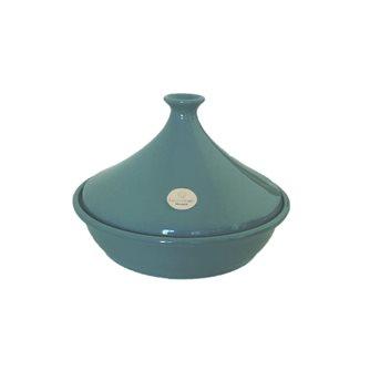 Emile Henry Tajine Keramik blaue Lagune 32 cm für 6 bis 10 Personen