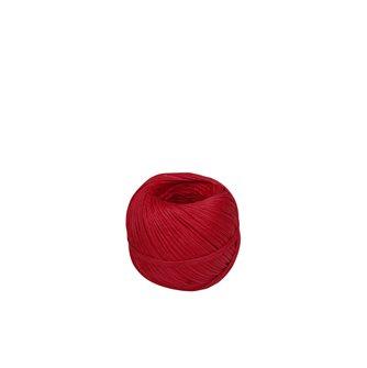 Pelote 100 g de ficelle pour charcuterie lin lisse rouge