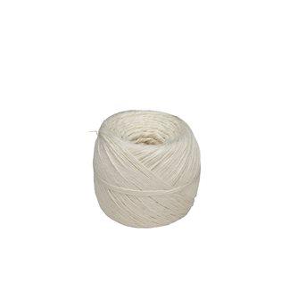 Pelote 200 g de ficelle pour charcuterie lin rustique blanche