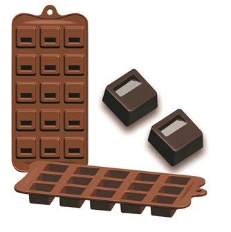 Silikonform für 15 kleine Schokoladen