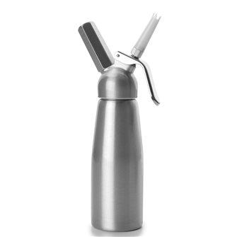 Sahnespender 0,5 Liter lackiert aus Aluminium