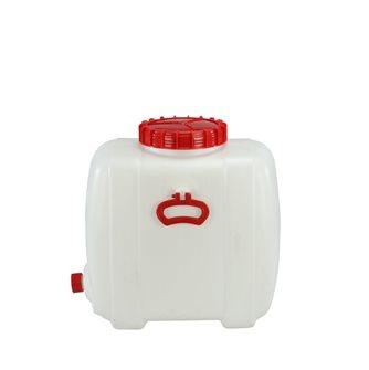 Rechteckiger Lebensmittelbehälter mit einem Fassungsvermögen von 60 Litern.