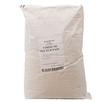 Farine de blé dur pour pâtes en grand sac de 25 kg