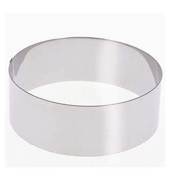 Cercle inox 24 cm haut 6 cm pour vacherin et autres pâtisseries