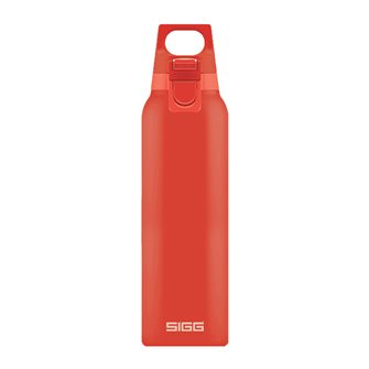 Gourde isotherme inox rouge clair 0,5 litre avec bouchon filtre manipulable une main Hot & Cold One Scarlet Sigg