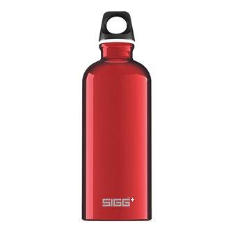 Gourde alu rouge 0,6 l légère réutilisable Traveller Red Sigg