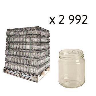Pot verre  228 ml par palette de 2992